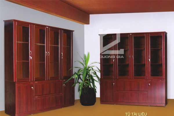 Tủ Giám đốc HVT06 gỗ veneer cao cấp, sang trọng