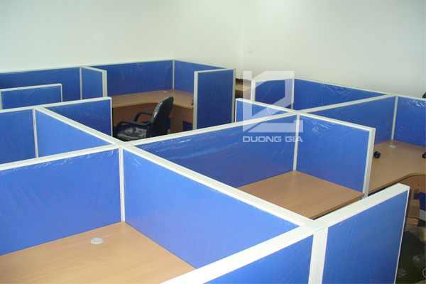 Vách ngăn văn phòng VVP-DG2 khung nhôm giá rẻ
