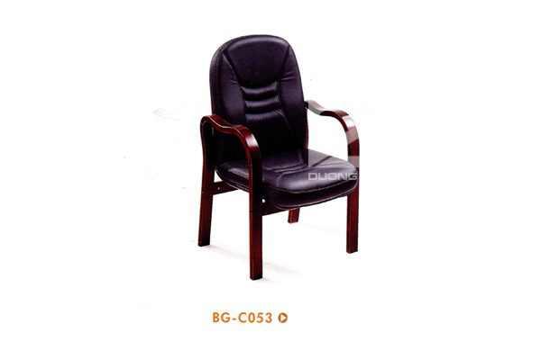 Ghế phòng họp gỗ tự nhiên DG-BGC53 bọc da sang trọng