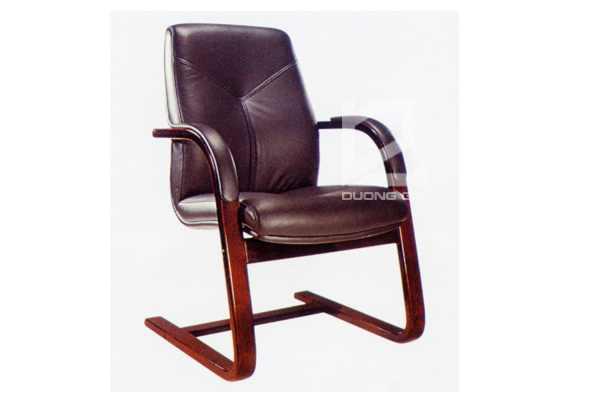 Ghế phòng họp gỗ tự nhiênDG07E chân quỳ sang trọng