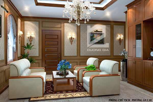 Mẫu thiết kế phòng Giám đốcGD-DG02  (góc chụp 1)