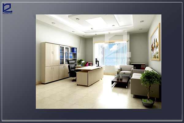 Thiết kế nội thất phòng Giám đốc công tyCKC GD-DG03 (góc chụp 2)