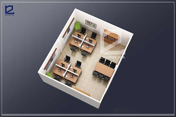 Mẫu thiết kế nội thất văn phòng kĩ thuật tiện nghi