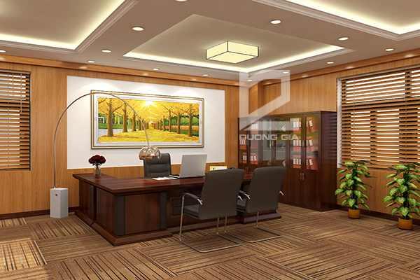 Thiết kế nội thất phòng làm việc của Giám đốc