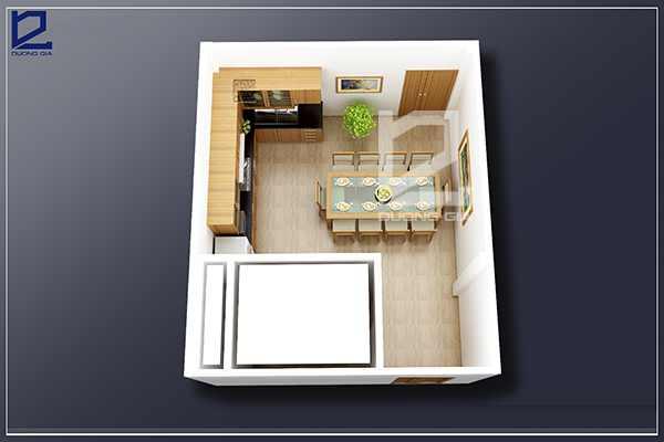 Thiết kế nội thất phòng ăn PA-DG1 - Nhìn tổng thể