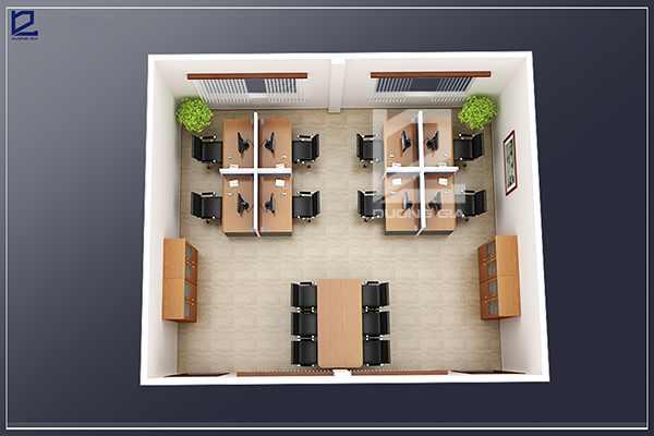 Mẫu thiết kế nội thất văn phòng kĩ thuật