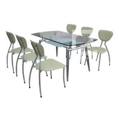 Bộ bàn ghế phòng ăn B52 + G52 cách điệu, hiện đại