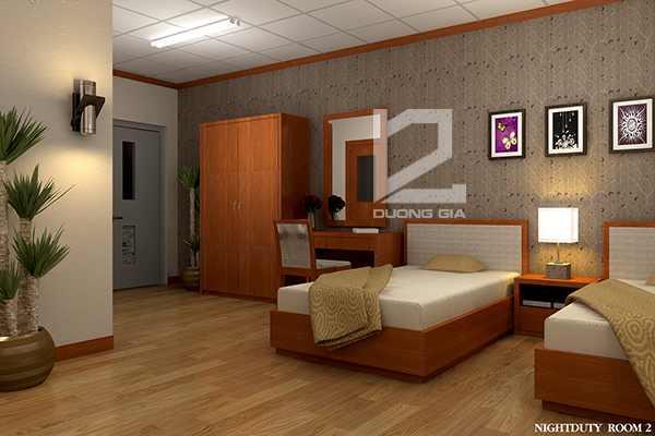 Thiết kế nội thất phòng ngủ dành chocán bộ