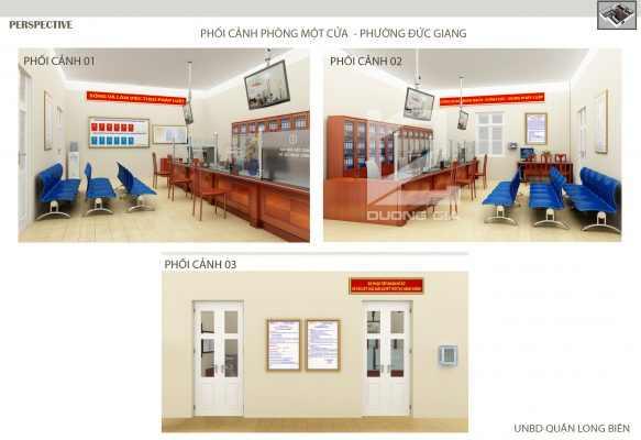 Phối cảnh văn phòng một cửa phường Đức Giang