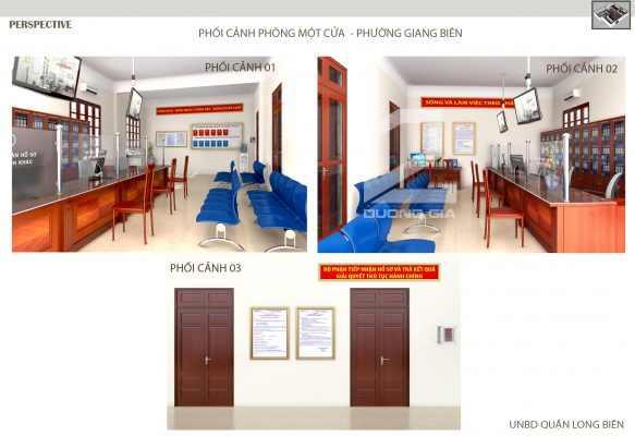 Phối cảnh phòng một cửa phường Giang Biên