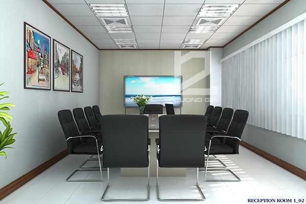 Thiết kế nội thất phòng họp Canon Tiên Sơn
