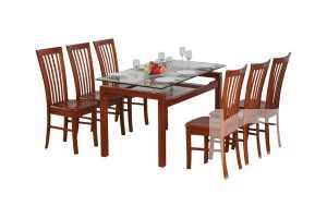 Bộ bàn ghế phòng ăn TB09 + TGA02 lịch sự, giá rẻ