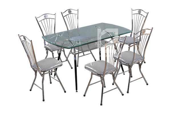 Bộ bàn ghế phòng ăn B48 + G27 sang trọng, hiện đại