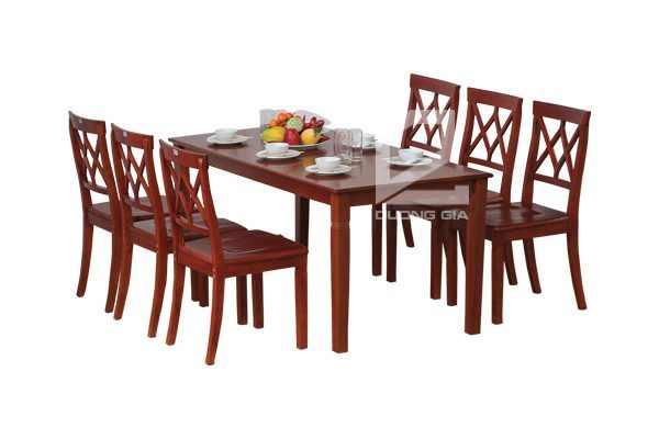 Bộ bàn ghế phòng ănTB03 + TGA03 đẹp, hiện đại