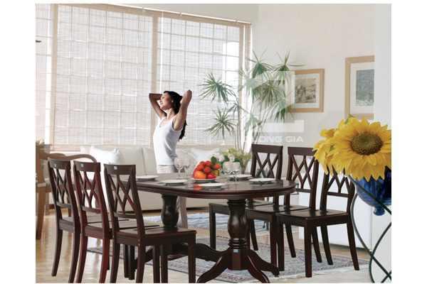 Bộ bàn ghế phòng ănTB06 + TGA03bằng gỗ sang trọng