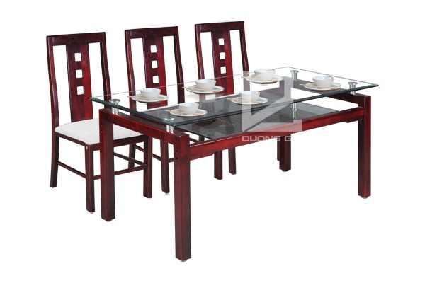Bộ bàn ghế phòng ănTB09 + TGA24 đẹp, hiện đại