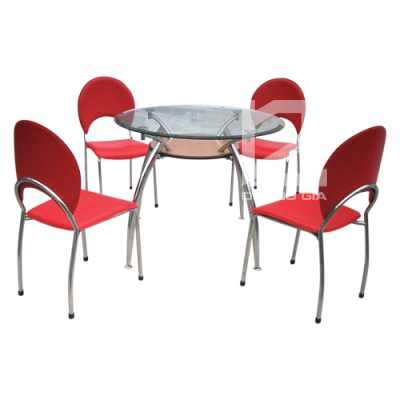 Bộ bàn ghế phòng ăn B53 + G53 ấn tượng, hiện đại