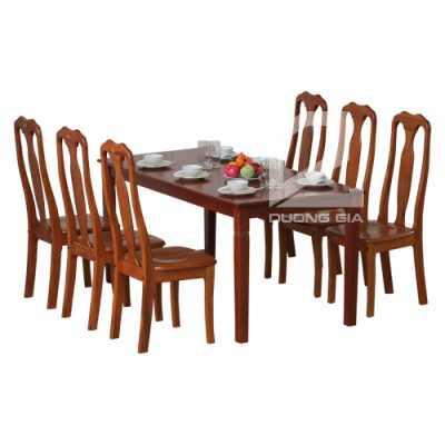 Bộ bàn ghế phòng ăn TB03 + TGA01 gỗ tự nhiên lịch sự