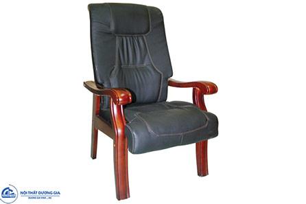 Ghế phòng họp gỗ tự nhiên GH09 bọc da hiện đại