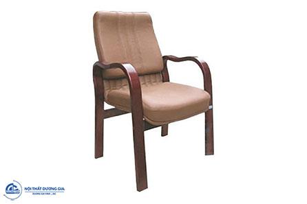 Ghế phòng họp gỗ tự nhiên GH08 bọc da cao cấp.