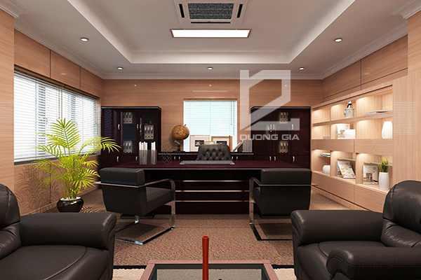 Thiết kế nội thất phòng giám đốc sang trọng tiện nghi