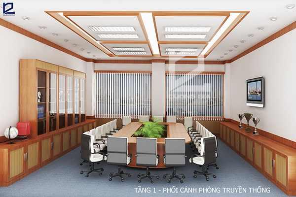 Mẫu thiết kế nội thất phòng họp, phòng truyền thống