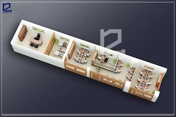 Mẫu thiết kế nội thất văn phòngVP-DG03