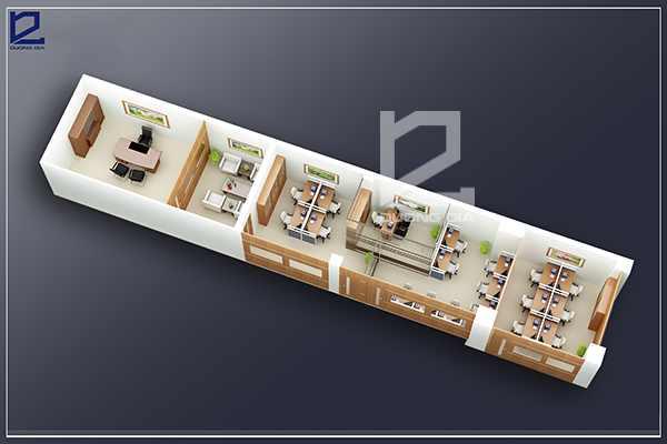Mẫu thiết kế nội thất văn phòngVP-DG03 (góc chụp 1)