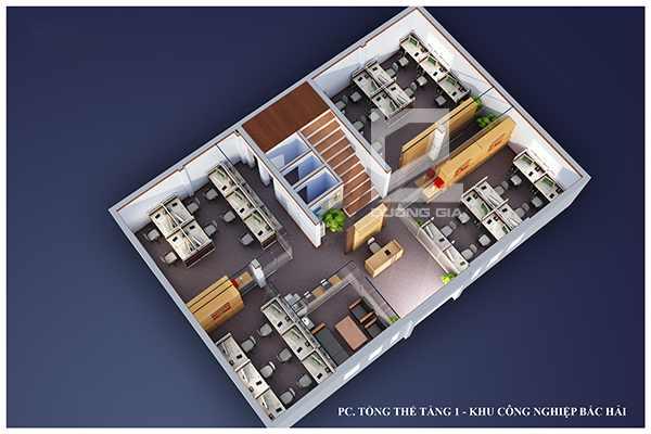Thiết kế nội thất văn phòng tầng 1