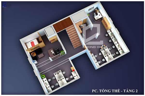 Thiết kế nội thất văn phòng tầng 2