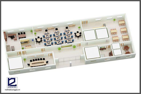 Mẫu thiết kế nội thất văn phòng VP-DG13 (góc chụp 2)
