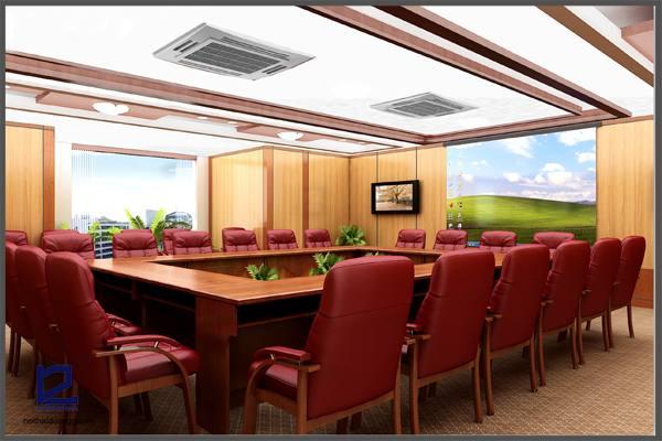 Thiết kế phòng họp công ty Xây lắp điện 1 PH-DG18 (góc chụp 1)