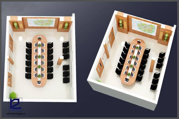 Mẫu thiết kế nội thất phòng họp PH-DG20 góc 1
