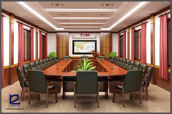 Thiết kế nội thất phòng họp công tyTGM PH-DG19 (góc chụp 1)