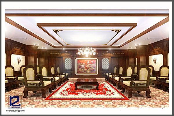 Thiết kế nội thất phòng khánh tiết KT-DG03 góc 1