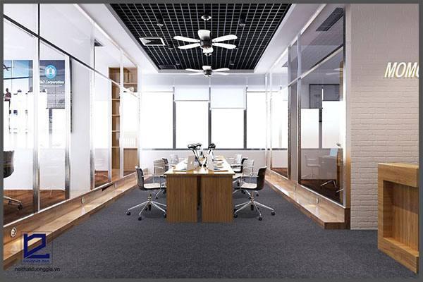 Mẫu thiết kế nội thất văn phòng VP-DG23 (góc chụp 1)