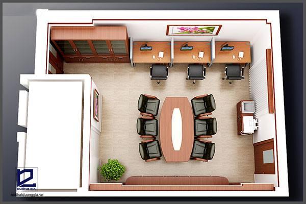 Mẫu thiết kế nội thất văn phòngVP-DG08 (góc chụp 3)