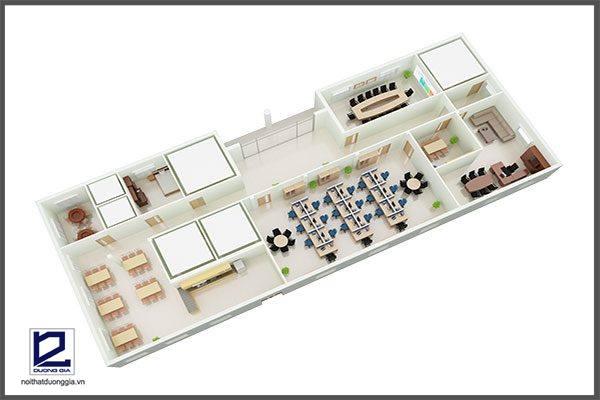Mẫu thiết kế nội thất văn phòng VP-DG13