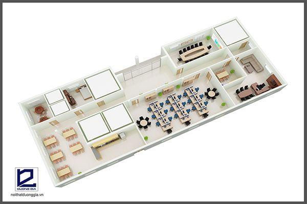 Mẫu thiết kế nội thất văn phòng VP-DG13 (góc chụp 3)