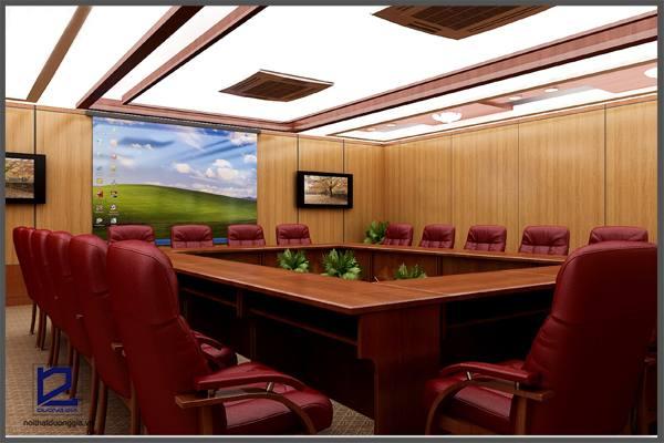 Thiết kế phòng họp công ty Xây lắp điện 1 PH-DG18 (góc chụp 2)