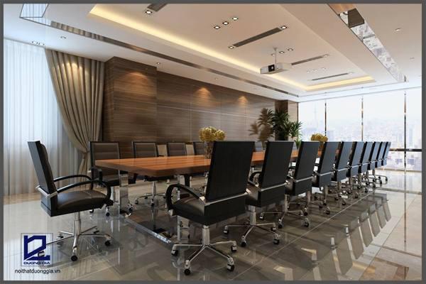 Thiết kế phòng họp nhỏ Quận ủy Thanh Xuân PH-DG23  góc 3
