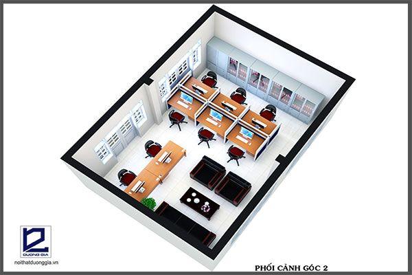 Thiết kế phòng tài chính quận Thanh XuânVP-DG21 - góc chụp 2