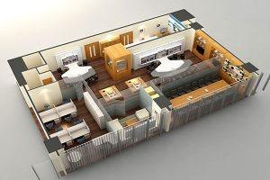 Thiết kế văn phòng công ty Tiến Hà VP-DG18