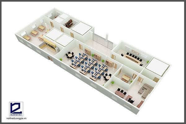 Mẫu thiết kế nội thất văn phòng VP-DG13 (góc chụp 1)