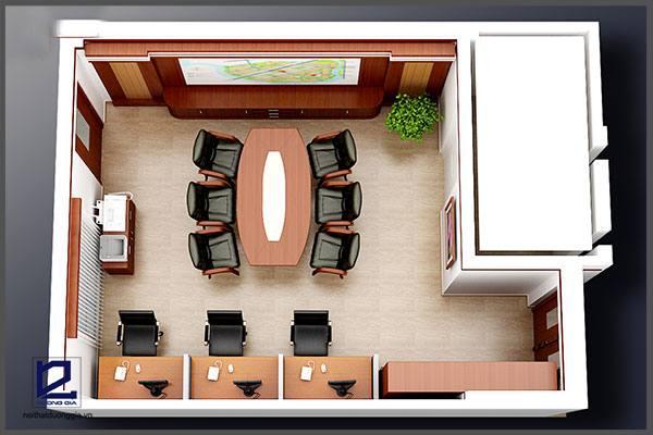 Mẫu thiết kế nội thất văn phòngVP-DG08 (góc chụp 2)