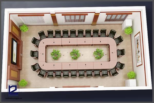 Thiết kế nội thất phòng họp công tyTGM PH-DG19 (góc chụp 4)