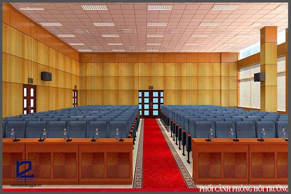 Thiết kế hội trường công ty Tiến Hà HT-DG13 góc 1
