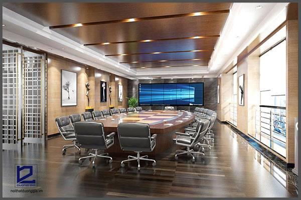 Thiết kế phòng họp quận ủy Thanh Xuân 2 PH-DG24  góc 2