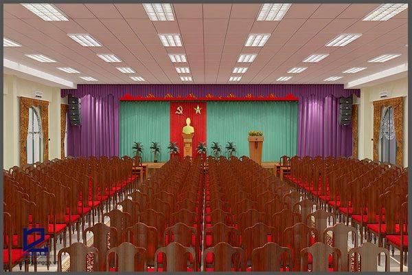 Thiết kế hội trường Điện lực Gia Lâm HT-DG07