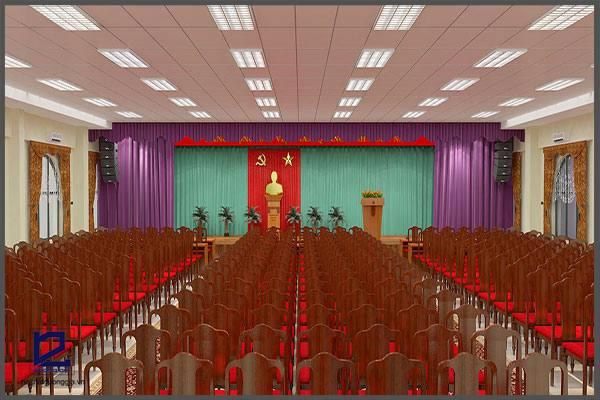 Thiết kế hội trường Điện lực Gia Lâm HT-DG07 góc 3
